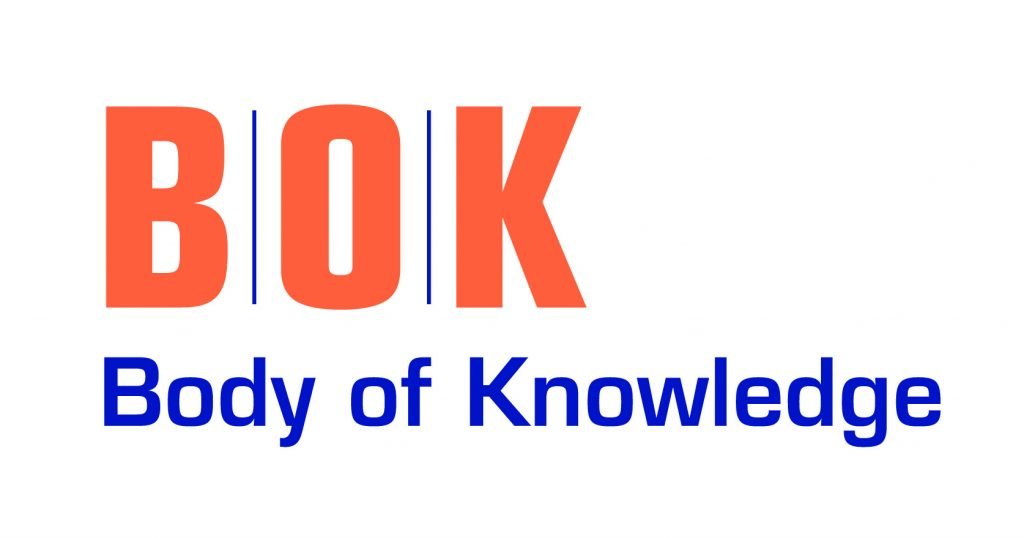 BOK logo with orange BOK letters and spelling out of acronym in blue letters.