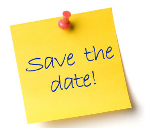 Save the Date on a Sticky Note