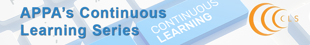 APPA's Continuous Learning Series Banner