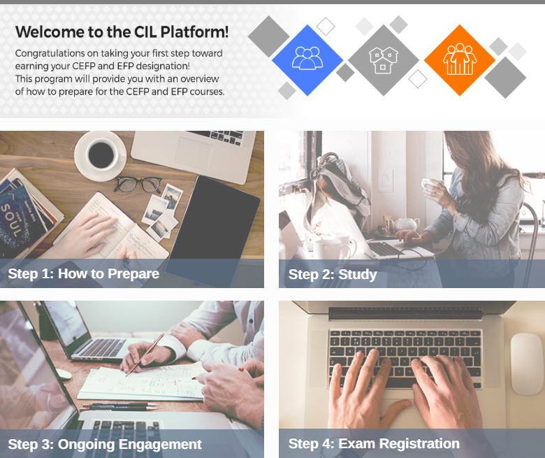 snapshot of CIL Home page