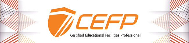official CEFP logo on white background with triangles