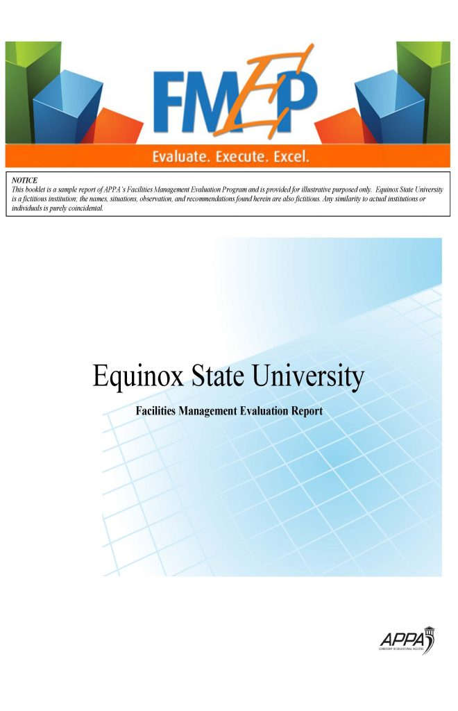 FMEP Sample Report Cover