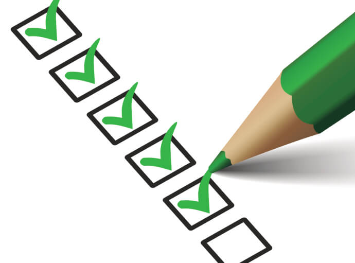 Image of checkboxes with green pencil and green checkmarks.