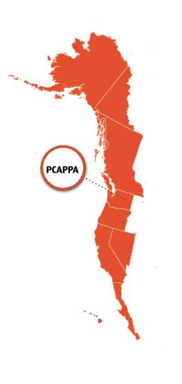 PCAPPA Region Map