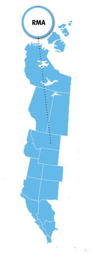 RMA Region Map