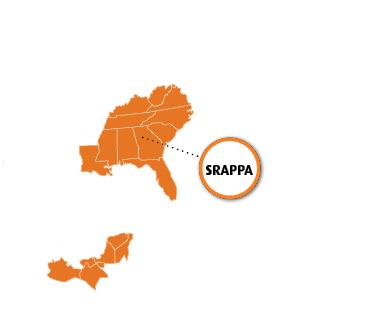 SRAPPA Region Map