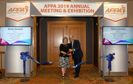 Ribbon cutting for Hall of Resources at APPA 2019.