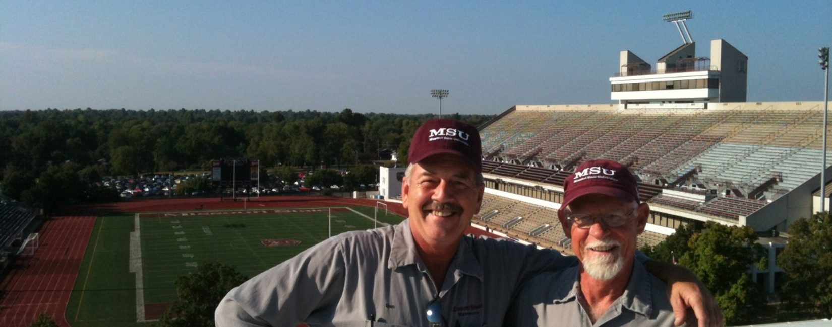 Missouri State University - Dan and Dennis on top of McDonald arena - 2