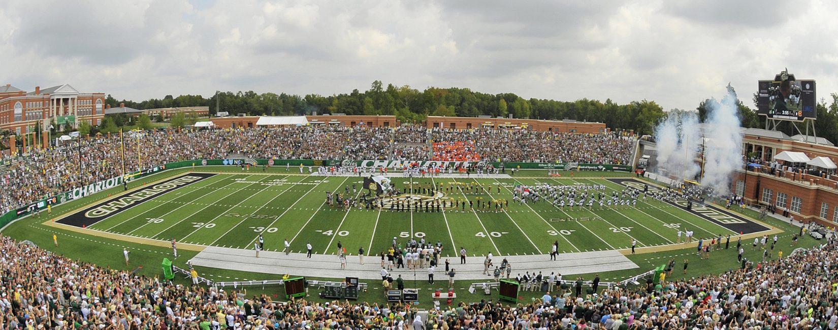 Football game at University of North Carolina Charlotte