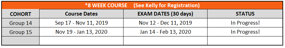 updated 8 week course sched