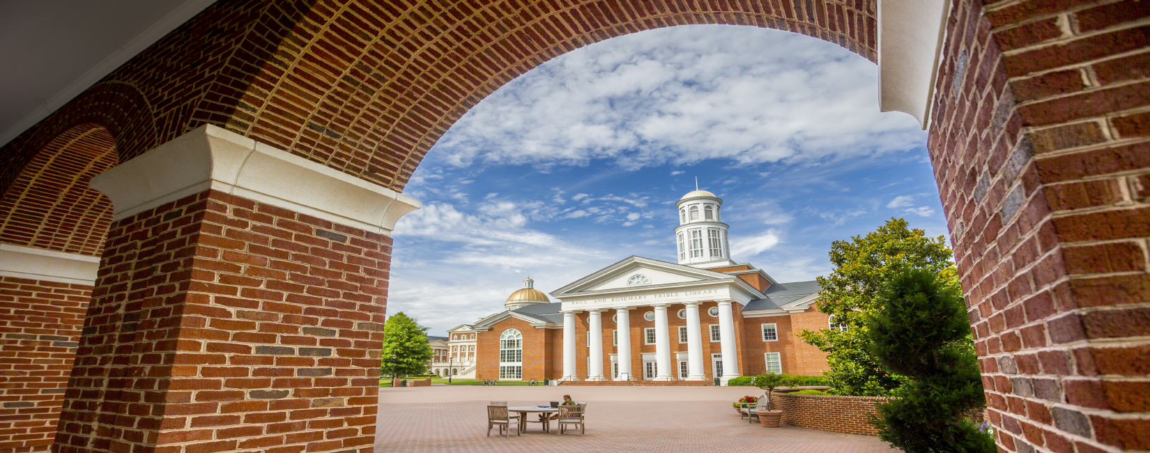 The newly expanded Trible Library is one of the signature buildings on the stunning campus of Christopher Newport University, a small public university in Newport News, Virginia that boasts small class sizes, individualized instruction and a gifted faculty.