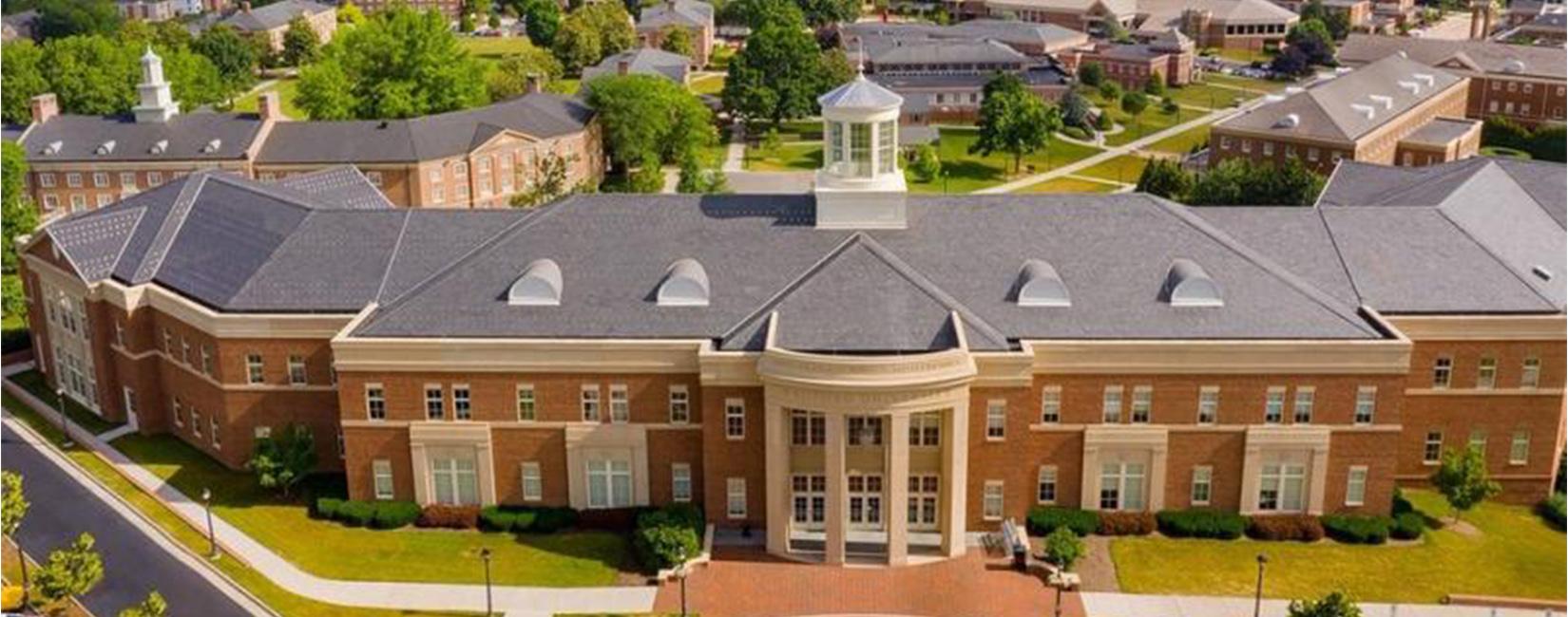 Aerial photo of Radford University Campus.