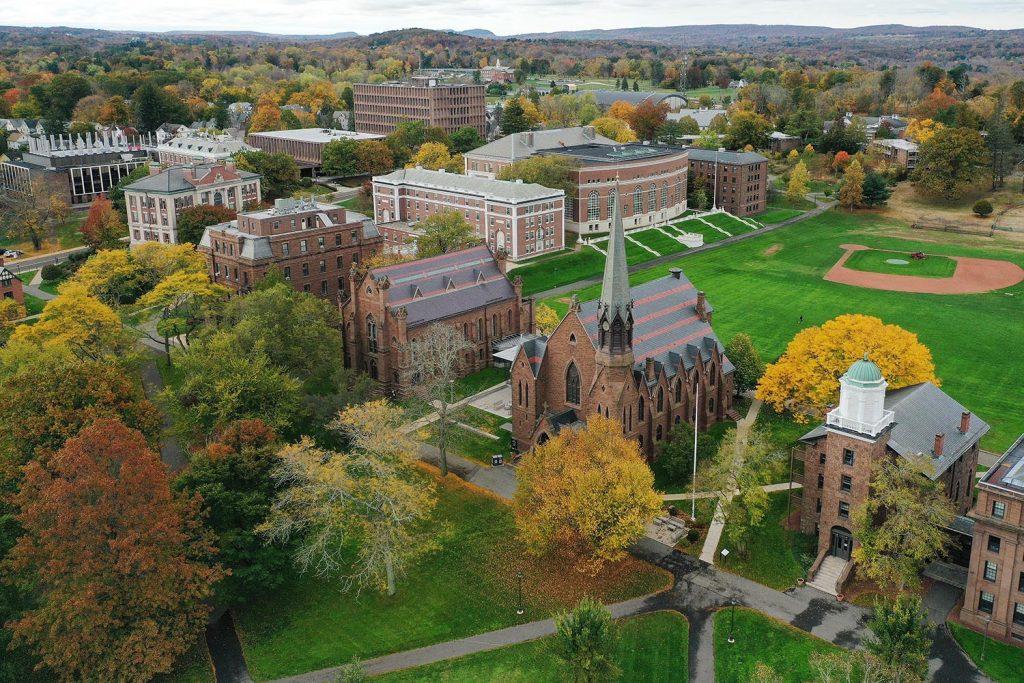 Wesleyan University Aerial Photo of Campus.